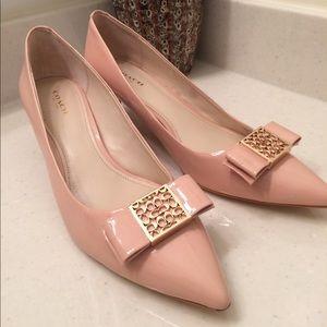 Coach Shoes - COACH kitten heels in Peach Rose (Nude)